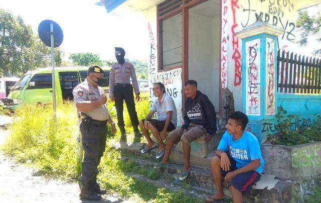 Rutin, Satgas Aman Nusa II Bersama Satgas Covid-19 Flotim Lakukan Patroli Diseputaran Kota Larantuka