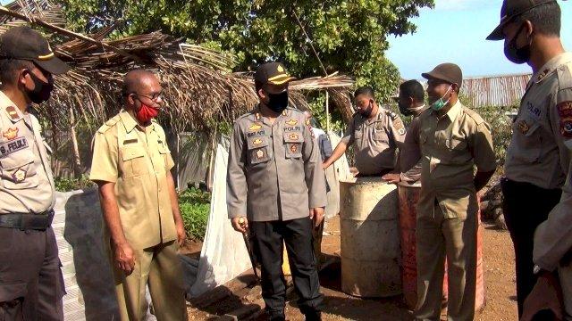 Pengecekan Kampung Tangguh Oleh Kapolres Flotim Dalam Rangka Persiapan Launching Kampung Tangguh Gesit Nusantara