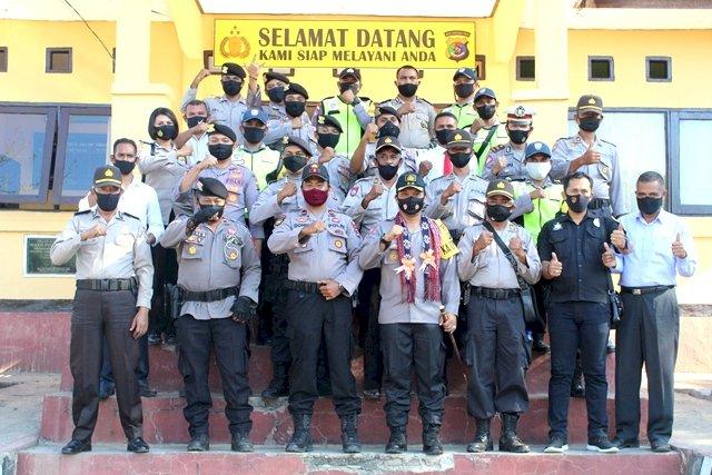 Kapolres Flotim Akbp I Gusti Putu Suka Arsa, S.I.K Kunker Perdana di Polsek Solor
