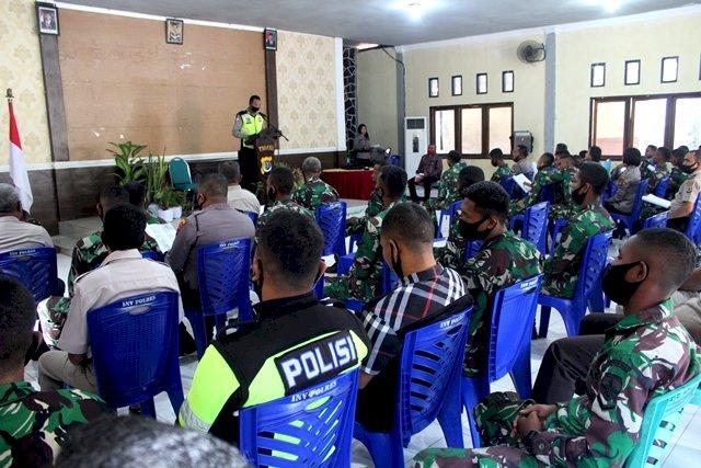 Sinergitas TNI POLRI, Polres dan Kodim Bangun Kekompakan Melalui Pembinaan Rohani Bersama