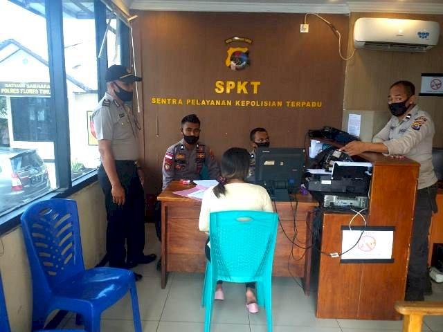 Laksanakan Pengawasan di Setiap Loket Pelayanan, Siwas Berkunjung Keruang SPKT
