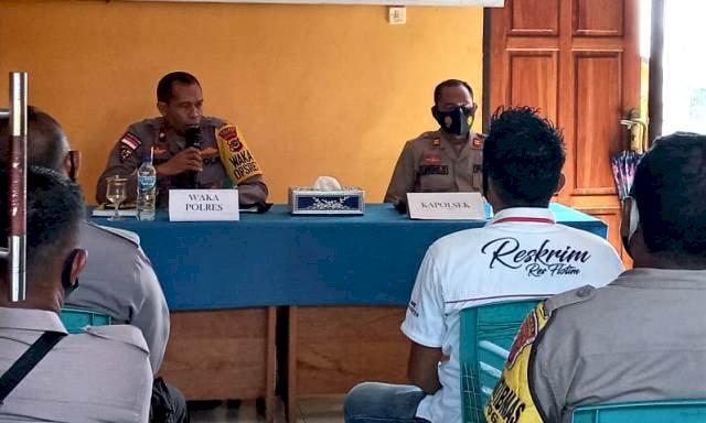 Tertibkan Administrasi, Tiem Supervisi Polres Flotim Kunjungi Polsek Titehena dan Wulanggitang
