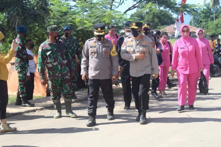 Kapolda NTT dan Ketua Bhayangkari Daerah NTT Pastikan Kondisi Terkini Pasca Bencana di Adonara