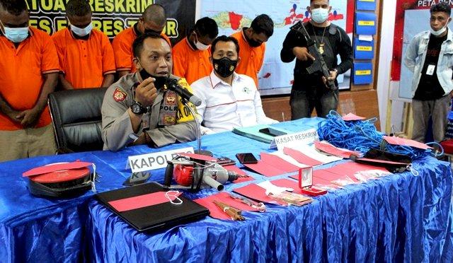 Press Release : Polres Flotim Kembali Ungkap Kasus Pencurian