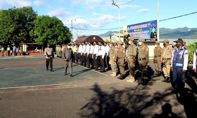Pimpin Apel Gelar Pasukan Operasi Ketupat 2021, Wakil Bupati Flotim Bacakan Amanat Kapolri