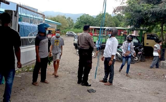 Sat Sabhara Polres Flotim Himbau Masyarakat Untuk Selalu Patuhi Prokes Covid-19