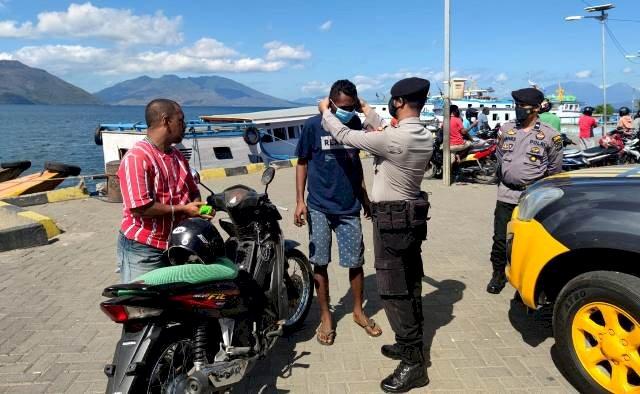 Himbau Terapkan Prokes Covid-19, Sat Sabhara Polres Flotim Lakukan KRYD Secara Dialogis