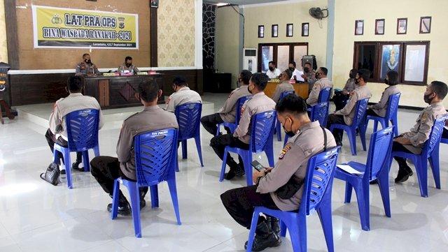 Polres Flotim gelar Lat Pra Ops Bina Waspada Ranakah 2021