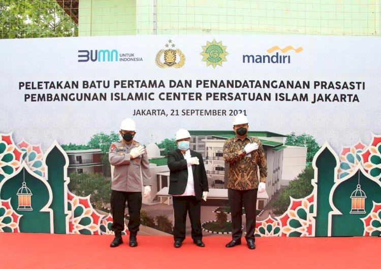Hadiri Peletakan Batu Pertama Islamic Center PERSIS, Kapolri Yakin Hasilkan SDM Berkualitas