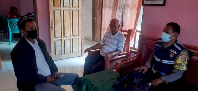 Jelang Pilkades, Bripka Abidin Sudin Lakukan Koordinasi Keperangkat Desa