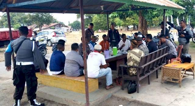Upaya Mediasi Kapolres Flotim Pasca Kejadian Tawuran di Waiwerang Kec Adonara Timur