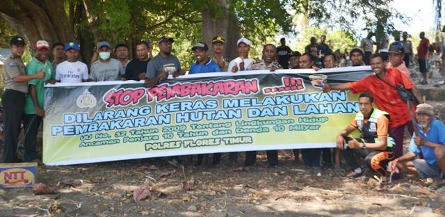 Satgas Ops Bina Karuna Polres Flotim Sosialisasi Penanggulangan Karhutla dan KDRT