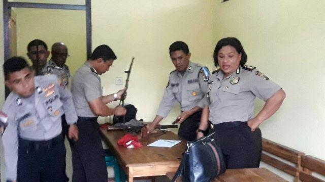 Supervisi Biro Sarpras Polda NTT di Polres Flotim