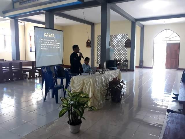 Sat Narkoba Polres Flotim Sosialisasi Tentang Narkoba Kepada 24 Pasangan Kursus Persiapan Perkawinan di Desa Bama