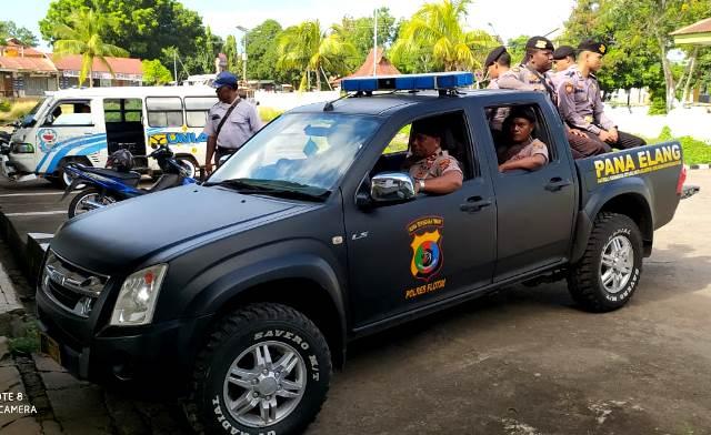 Cegah Terjadinya Aksi Kejahatan, Sat Sabhara Polres Flotim Rutin Adakan Patroli Diseputaran Kota