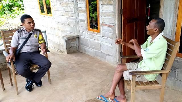 Wujudkan Keamanan Lingkungan, Brigpol Andi Ahmad M. P Sambangi Warganya